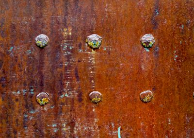 Rusted Rivets Abstract