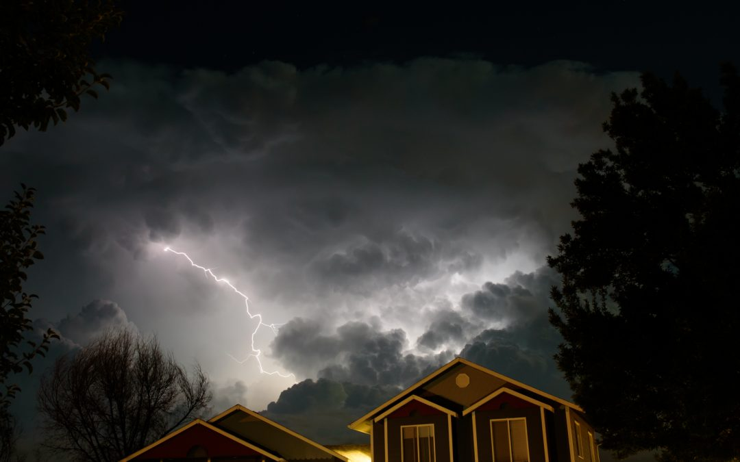 Lightning over Longmont